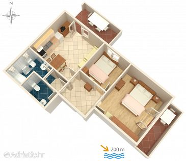 Apartment A-4972-b - Apartments Kampor (Rab) - 4972