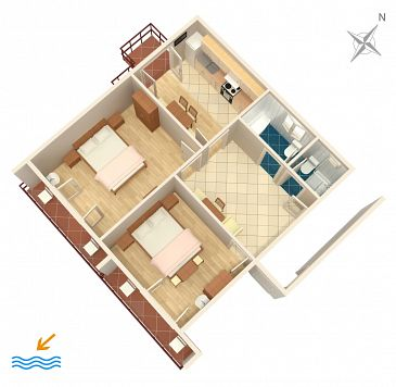 Apartament A-4976-a - Kwatery Banjol (Rab) - 4976