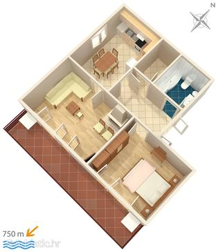 Apartment A-4988-b - Apartments Barbat (Rab) - 4988