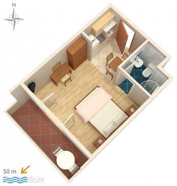Studio flat AS-5004-a - Apartments Palit (Rab) - 5004
