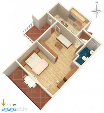 Apartment A-5011-c - Apartments Palit (Rab) - 5011