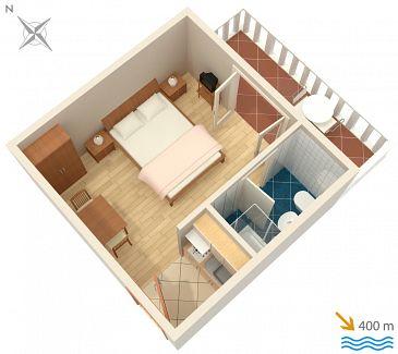Studio flat AS-5015-a - Apartments Barbat (Rab) - 5015