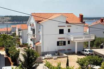 Property Barbat (Rab) - Accommodation 5015 - Apartments with pebble beach.