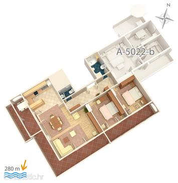 Apartment A-5022-a - Apartments and Rooms Banjol (Rab) - 5022