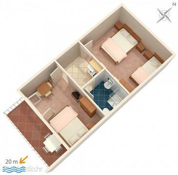 Drvenik Donja vala, Plan u smještaju tipa apartment, WIFI.