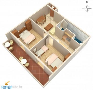 Apartment A-5044-a - Apartments and Rooms Palit (Rab) - 5044