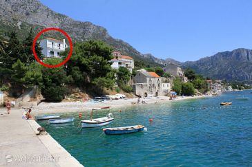 Property Brist (Makarska) - Accommodation 505 - Apartments near sea with pebble beach.