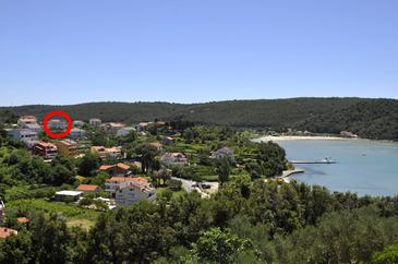 Property Kampor (Rab) - Accommodation 5064 - Apartments and Rooms with sandy beach.