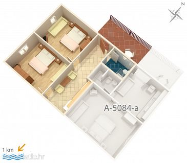 Apartment A-5084-b - Apartments Murter (Murter) - 5084