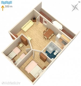 Apartment A-5099-a - Apartments Murter (Murter) - 5099