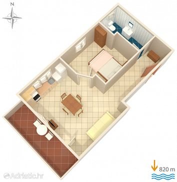 Apartment A-5100-a - Apartments Murter (Murter) - 5100