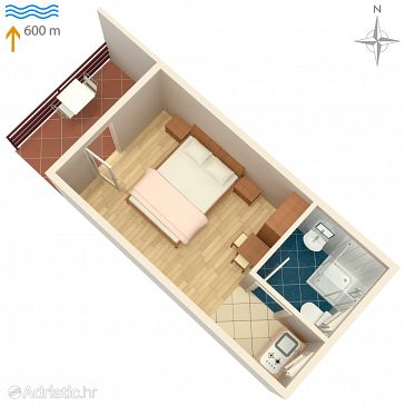 Studio flat AS-5103-a - Apartments Murter (Murter) - 5103