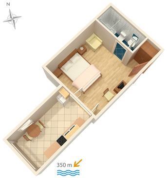 Studio flat AS-512-b - Apartments Makarska (Makarska) - 512