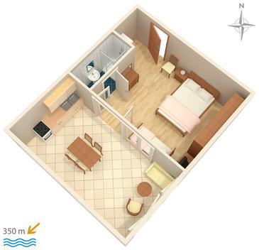 Studio flat AS-512-c - Apartments Makarska (Makarska) - 512