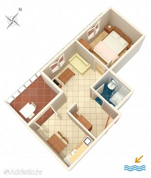 Apartment A-5123-b - Apartments Jezera (Murter) - 5123