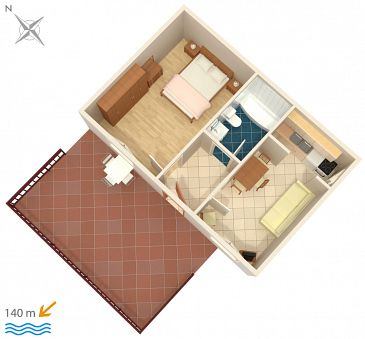 Apartament A-5130-c - Apartamenty Tisno (Murter) - 5130