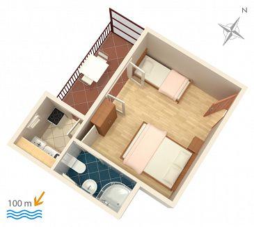 Studio flat AS-515-a - Apartments Podaca (Makarska) - 515
