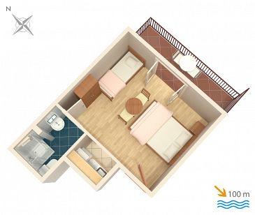 Studio flat AS-515-c - Apartments Podaca (Makarska) - 515