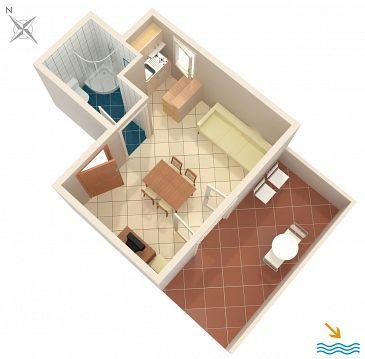 Studio flat AS-5159-a - Apartments Krilo Jesenice (Omiš) - 5159