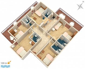 Apartment A-516-a - Apartments Podaca (Makarska) - 516