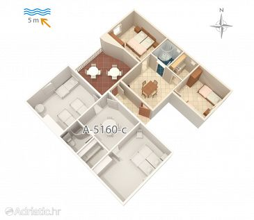 Apartment A-5160-d - Apartments and Rooms Seget Vranjica (Trogir) - 5160