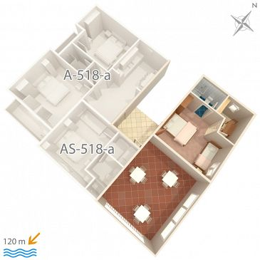 Apartment A-518-b - Apartments Podgora (Makarska) - 518