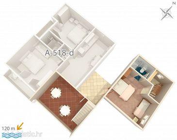 Apartmán A-518-c - Ubytovanie Podgora (Makarska) - 518