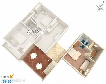 Apartment A-518-c - Apartments Podgora (Makarska) - 518