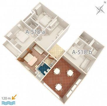 Studio AS-518-a - Apartamenty Podgora (Makarska) - 518