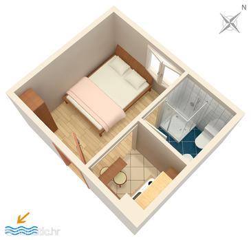 Studio flat AS-5198-e - Apartments Gradac (Makarska) - 5198