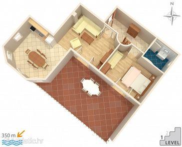 Apartment A-522-a - Apartments Mandre (Pag) - 522