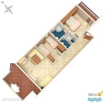 Apartment A-5244-d - Apartments Okrug Donji (Čiovo) - 5244
