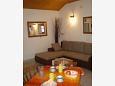 Pitve, Living room u smještaju tipa studio-apartment, dopusteni kucni ljubimci i WIFI.