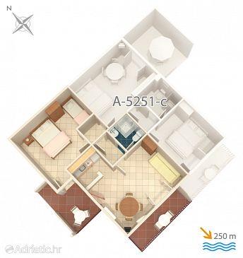 Apartment A-5251-d - Apartments Mimice (Omiš) - 5251