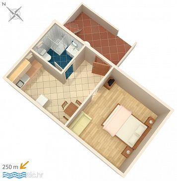 Apartment A-527-f - Apartments Metajna (Pag) - 527