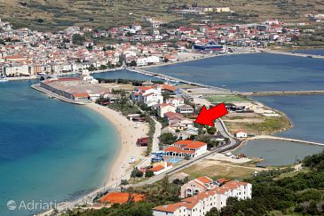 Property Pag (Pag) - Accommodation 528 - Apartments near sea with pebble beach.