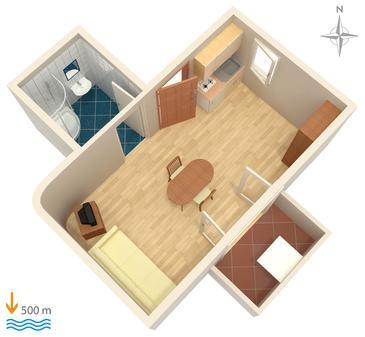 Studio AS-5282-a - Apartamenty Biograd na Moru (Biograd) - 5282