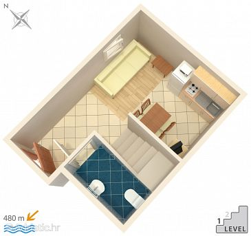 Apartment A-5320-b - Apartments Njivice (Krk) - 5320
