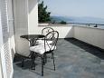 Novi Vinodolski, Terrace u smještaju tipa room, s pogledom na more i dopusteni kucni ljubimci.