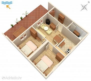 Apartment A-5351-a - Apartments Punat (Krk) - 5351
