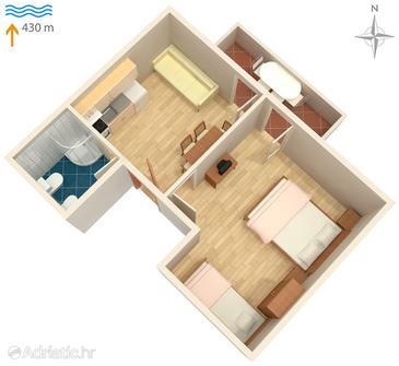 Apartment A-5355-a - Apartments Vantačići (Krk) - 5355