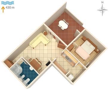 Apartament A-5355-c - Apartamenty Vantačići (Krk) - 5355