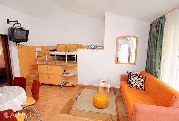 Punat, Living room u smještaju tipa apartment, WIFI.
