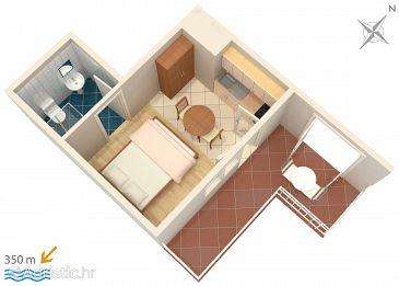 Studio flat AS-536-b - Apartments Novalja (Pag) - 536