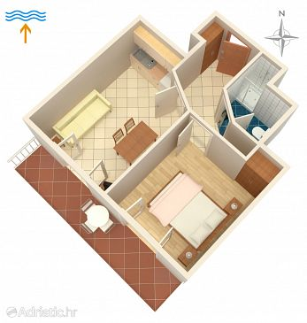Apartment A-5398-g - Apartments and Rooms Njivice (Krk) - 5398