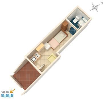 Studio flat AS-5403-c - Apartments and Rooms Vrbnik (Krk) - 5403