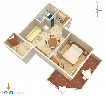 Apartment A-5409-d - Apartments Baška (Krk) - 5409