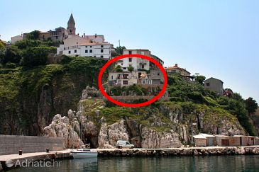 Property Vrbnik (Krk) - Accommodation 5426 - Vacation Rentals with pebble beach.