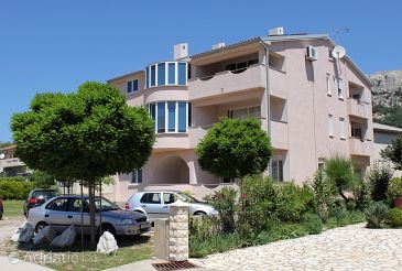 Baška, Krk, Property 5444 - Apartments with pebble beach.