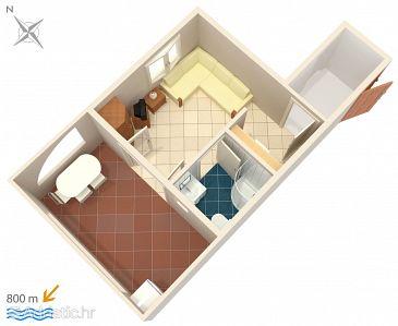 Studio flat AS-5458-b - Apartments and Rooms Njivice (Krk) - 5458